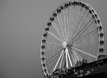 2018 Wildfire Haze: Seattle Great Wheel and Ferry