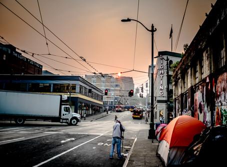 2018 Wildfire Haze: Pioneer Square, Seattle