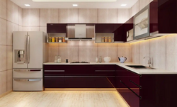 PVC laminates modular kitchen