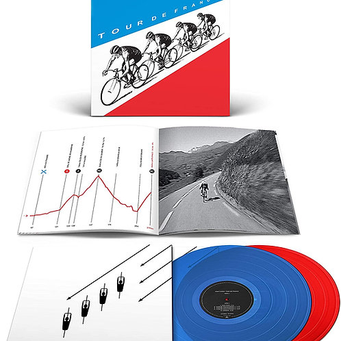 Kraftwerk Tour de France Transparent Blue / Red Viny)