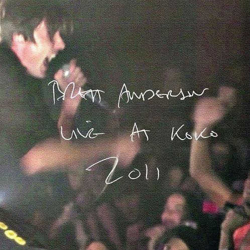 Brett Anderson  Live at Koko 2011