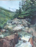 Water Fall 16x20 Oil on Canvas $800.00