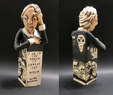 Kathe Kollwitz  Ceramic 11.5 x 3 x 3 inches $450