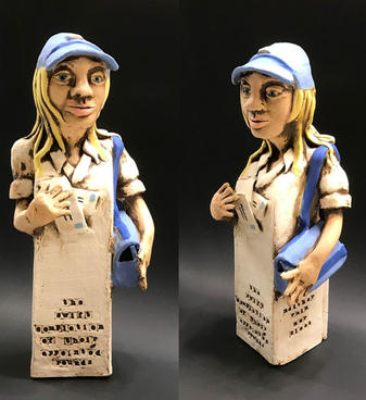 Mail Carrier Ceramic 11 x 3 x 3 inches $450