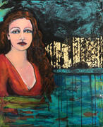 """Water - Paris Accord 16 x 20""""  Mixed media on canvas $250  SOLD available as a giclee & on a variety of products"""