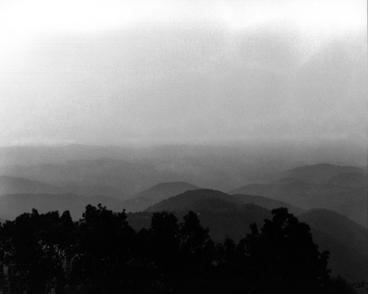 "Great Smoky Mountains #2 20 x 25"" Framed black and white photograph $195"