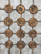 "Cinnamon Twirls 16""x20"" Acrylic on canvas recycled fibers $150"