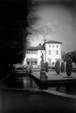"Vizcaya Reflection Pools 20 x 25""  Framed black and white photograph  $195."