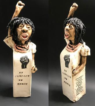 No Justice No Peace Ceramic 15 x 2.5 x 2.5 inches $450