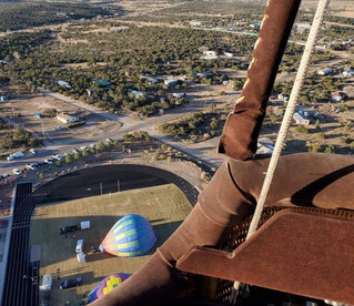 View from in the Hot Air Balloon