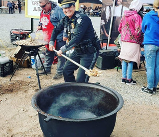 New Mexico State Police Helping at the Matanza