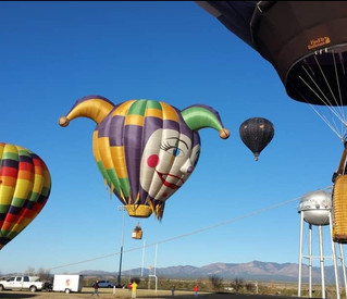 View of Balloons over Launch Field
