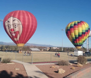 Balloons on the Launch Field
