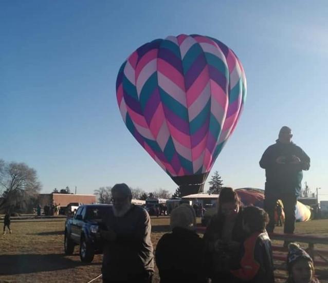 The Crowd Enjoying the Hot Air Balloons