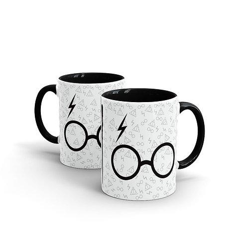 Caneca Harry Potter com alça preta