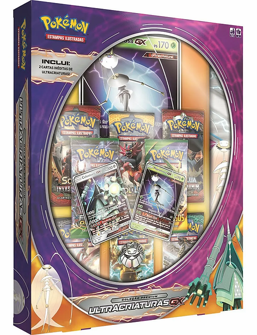 Box Cards Pokemon Ultracriaturas GX Pheromosa Gx Copag