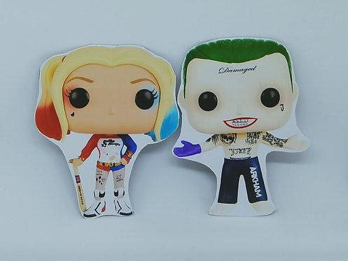 Ímãs - Harley Quinn + Coringa + Batman