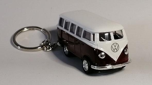 Chaveiro Die Cast Volkswagen Kombi 1962 roxo escuro