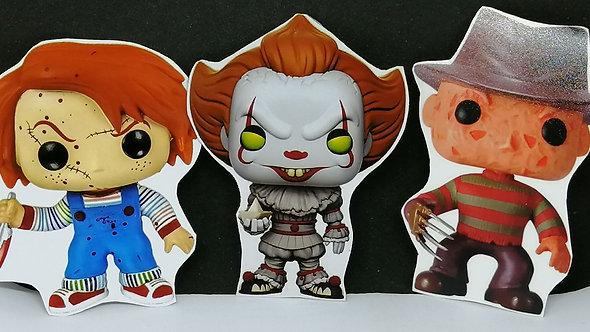 Ímãs Terror - Pennywise + Chucky + Freddie Kruegger