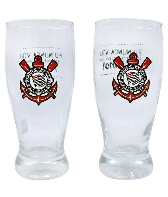 Copos de vidro do Corinthians