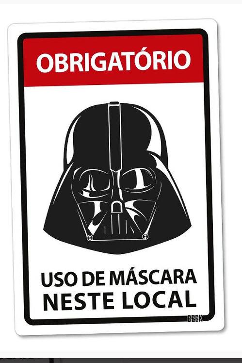 Placa decorativa PVC - Darth Vader