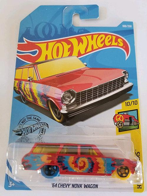 Hot Wheels - '64 Chevy Nova Wagon vermelha