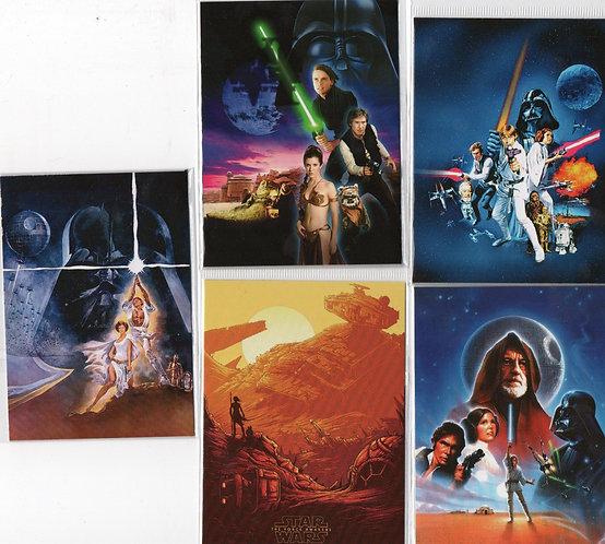 5 ímãs pôsteres Star Wars