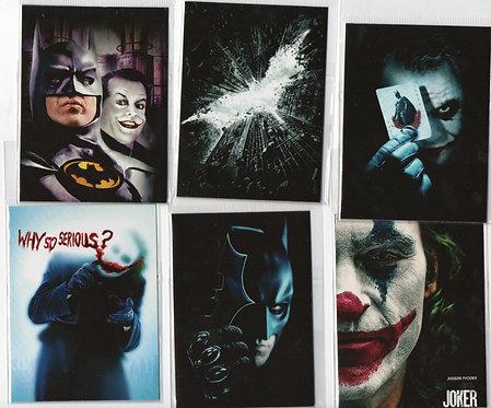 6 ímãs pôsteres Batman e Coringa