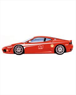Ferrari F430 Challenge vermelha - escala 1/43