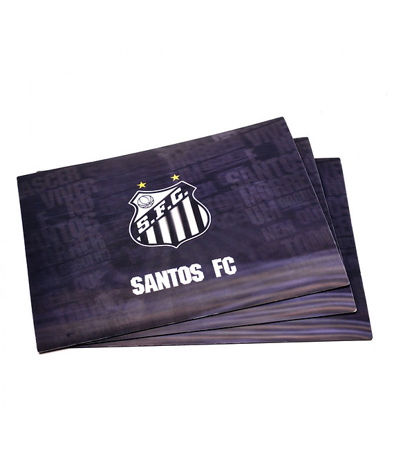 Jogo americano 3D do Santos (4 peças)