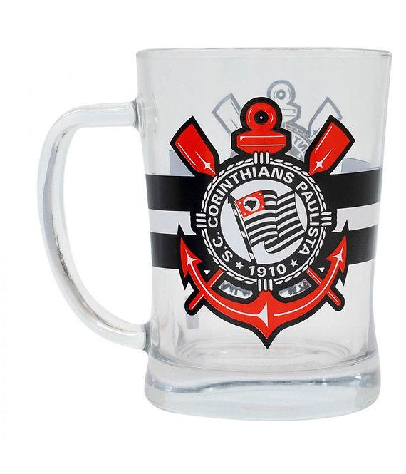 Caneca de vidro do Corinthians
