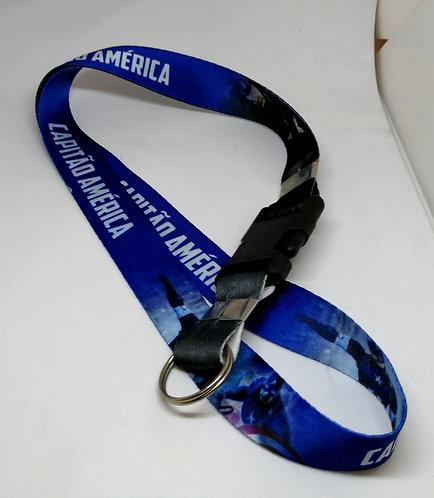 Chaveiro-cordão Capitão América
