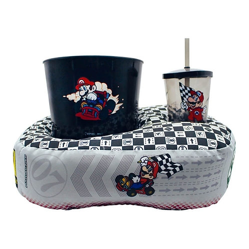 Kit Almofada para pipoca e copo - Mario Bros