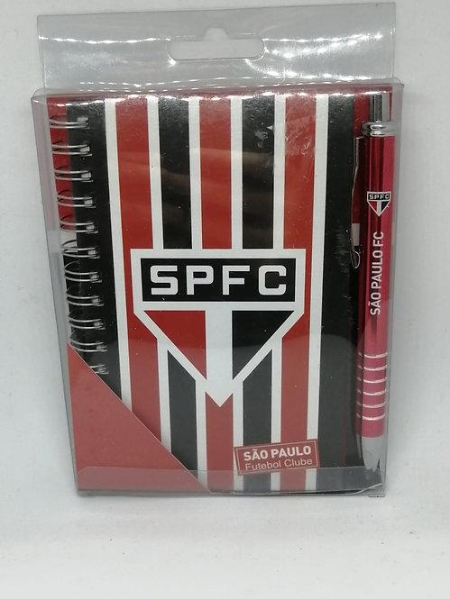 Caderno + caneta do São Paulo