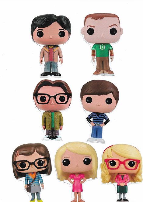 7 ímãs de geladeira - The Big Bang Theory