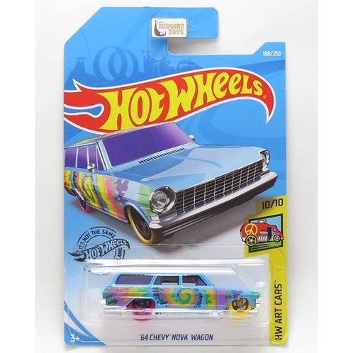 Hot Wheels - '64 Chevy Nova Wagon azul