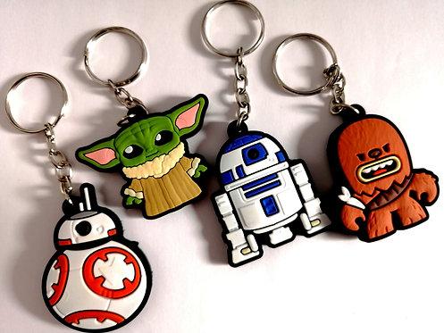 4 chaveiros borracha Star Wars