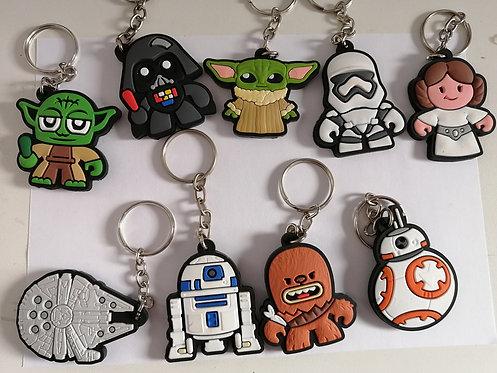 9 chaveiros borracha Star Wars