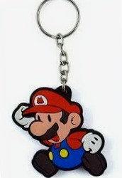 Chaveiro de borracha - Super Mario