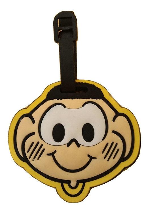 Tag do Cascão - etiqueta para mala de borracha