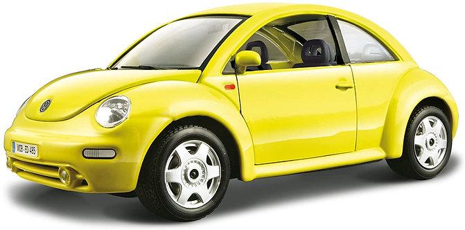 New Beetle amarelo - Bburago - escala 1/24