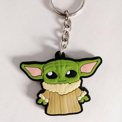 Chaveiro borracha Baby Yoda