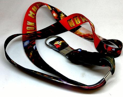 Chaveiro-cordão Iron Man