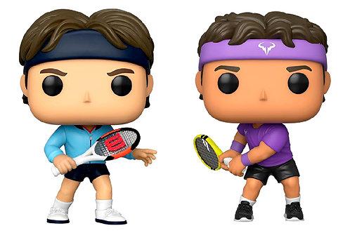 2 Funkos Roger Federer + Rafael Nadal