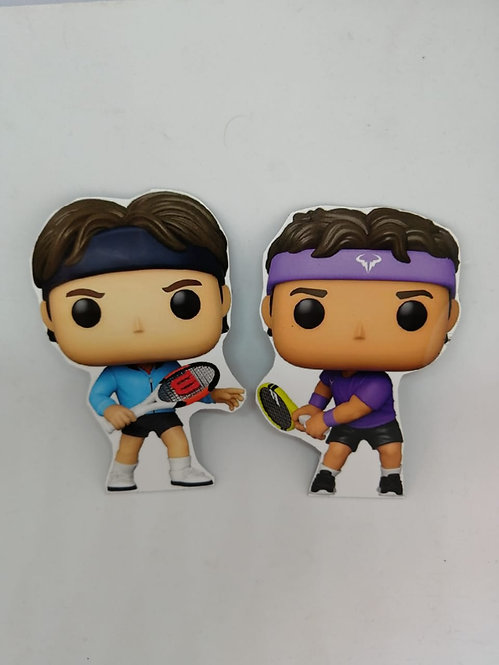 Ímãs de geladeira - Federer e Nadal