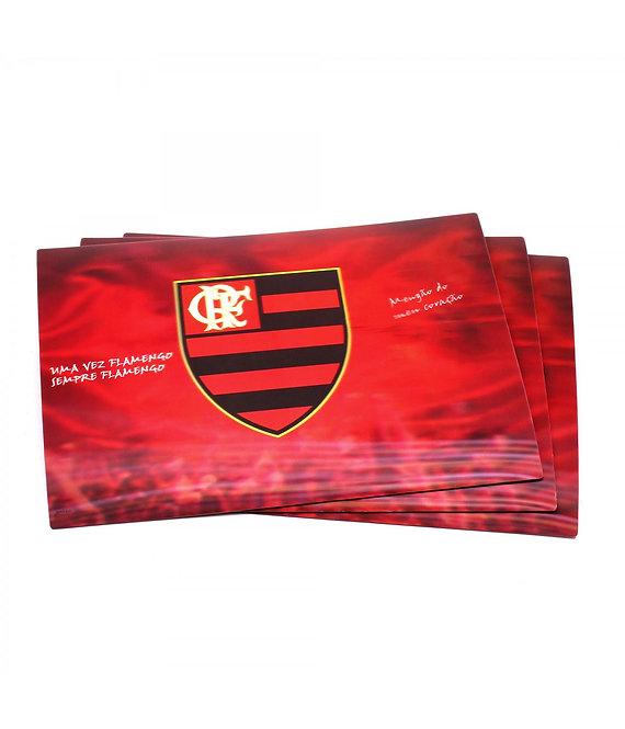 Jogo americano 3D do Flamengo (4 peças)