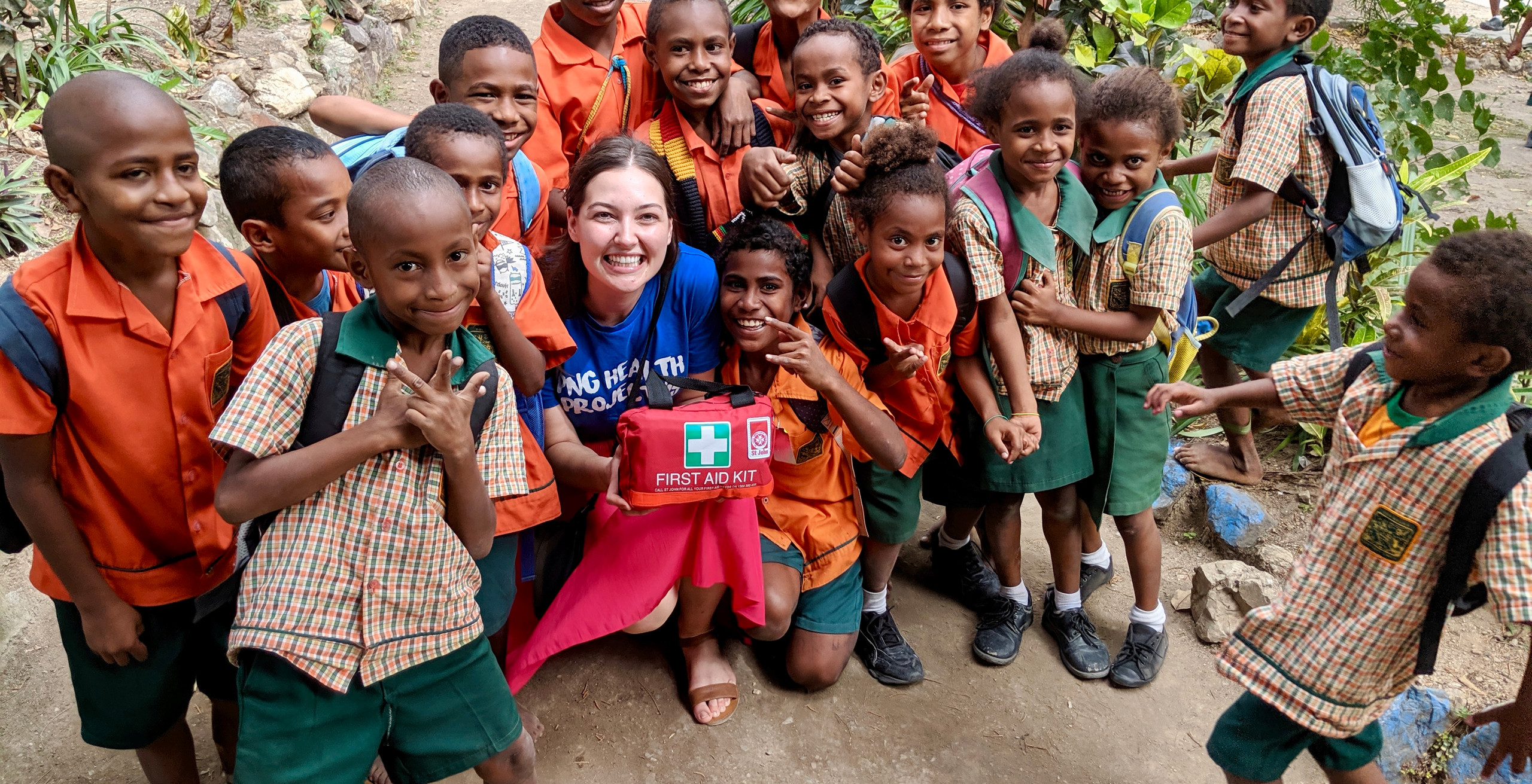 PHP Exec (Jess Hawkins) dropping off the first aid kit from Airborne Aide to Tokarara Primary School.