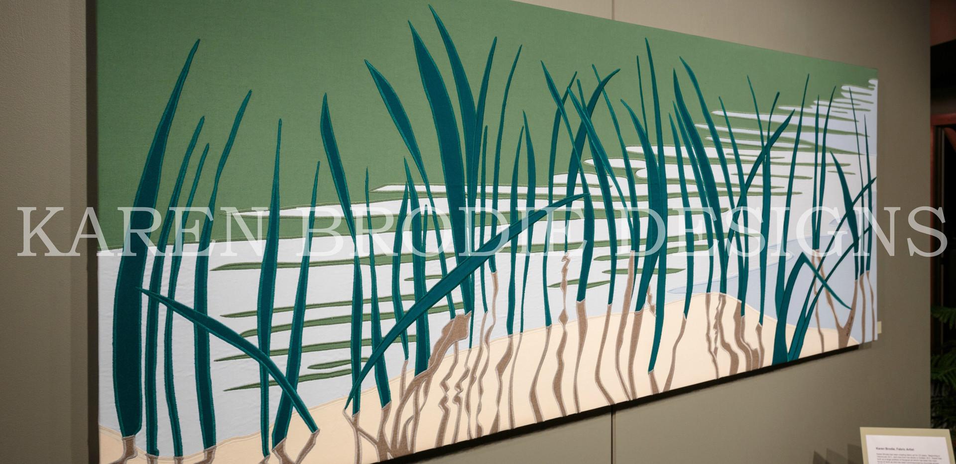Reeds - Custom Contemporary Fabric Art