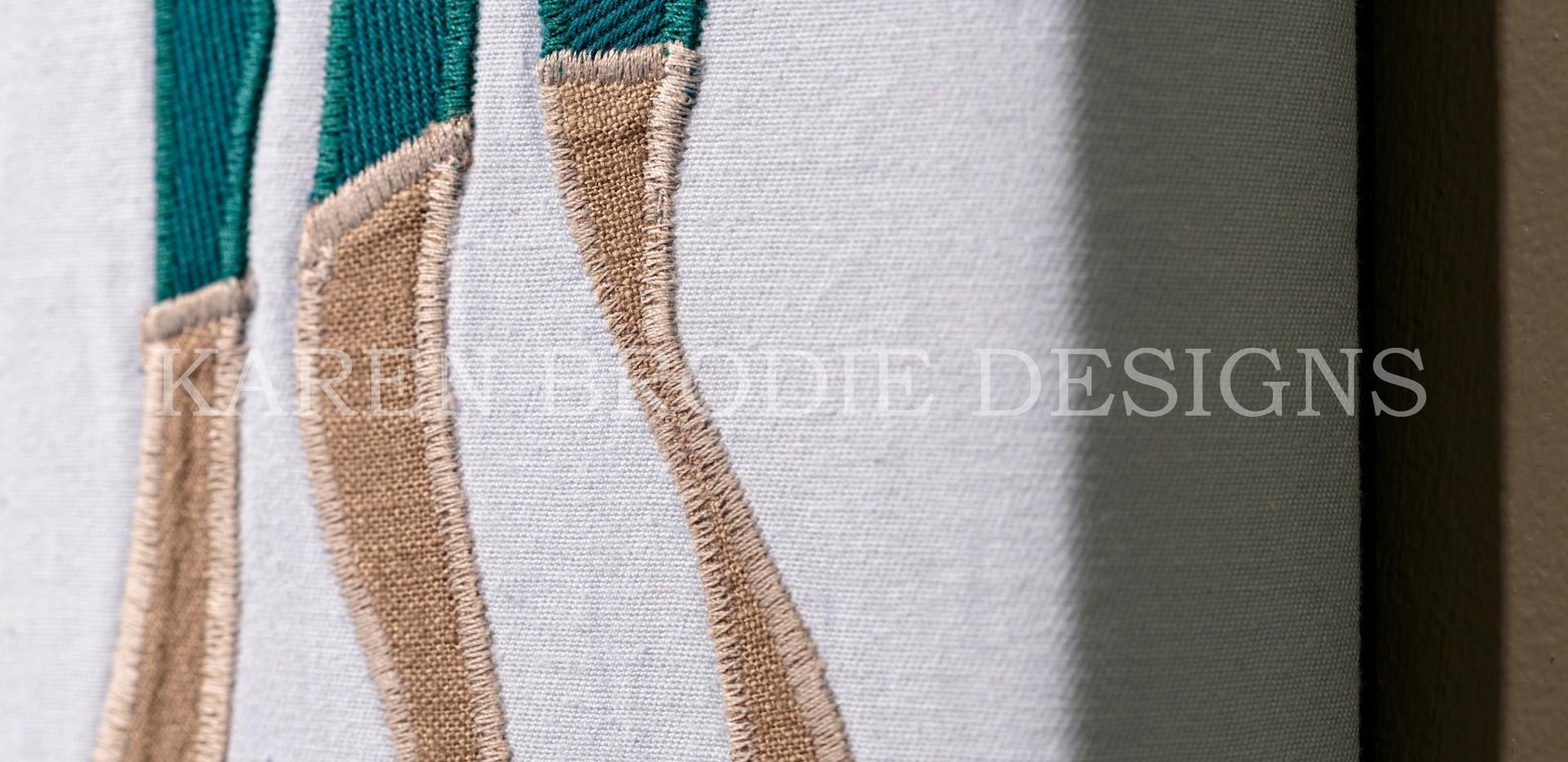 Fabric Art Details - Karen Brodie Designs