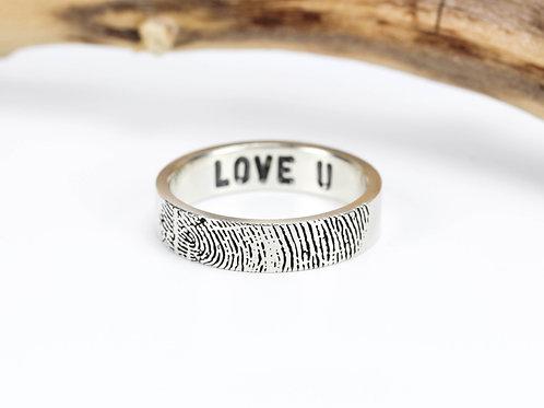 Кольцо с Отпечатком Пальца S